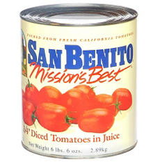 San Benito® Diced Tomatoes - 102 oz. can
