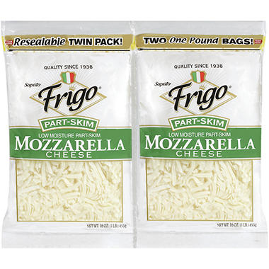 Frigo® Shredded Mozzarella Cheese - 16 oz. - 2 ct.