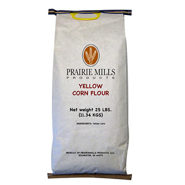 Prairie Mills Yellow Corn Flour - 25 lb. bag