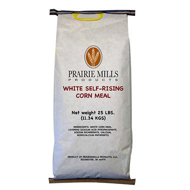 Prairie Mills Self-Rising White Corn Meal - 25 lb. bag