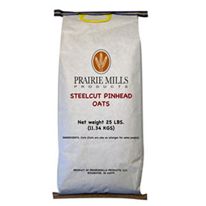 Prairie Mills Steelcut Pinhead Oats - 25 lb. bag