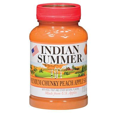 Indian Summer Premium Chunky Peach Applesauce (12 pk., 23 oz.)
