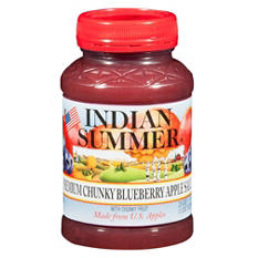 Indian Summer Premium Chunky Blueberry Applesauce (12 pk., 23 oz.)