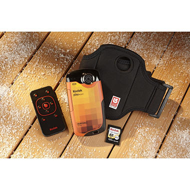 Kodak Playsport Video Camera Bundle (2nd Generation) - Orange