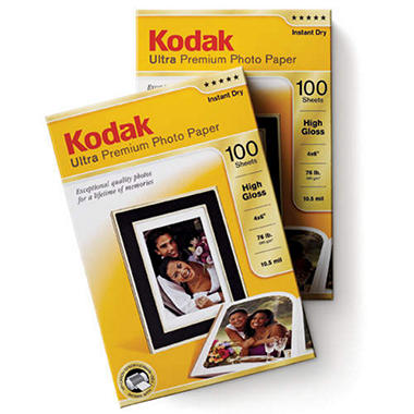 "Kodak Ultra Premium 4""x6"" 200 Sheet Photo Paper ? 280gsm High Gloss - 285gsm Studio Gloss"
