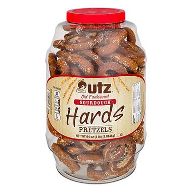 Utz Sourdough Hard Pretzels (4 lb. jar)