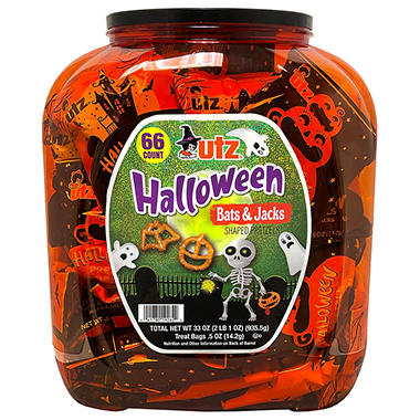 Utz Halloween Shaped Pretzel Treat Barrels - 70 ct