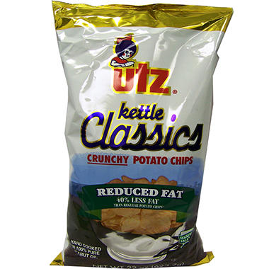 Utz Reduced Fat Kettle Classic Chips - 22 oz