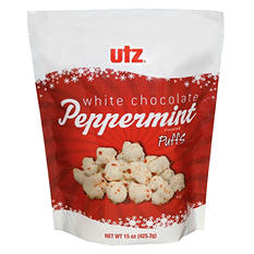 Utz White Chocolate Peppermint Puffs - 2pk.