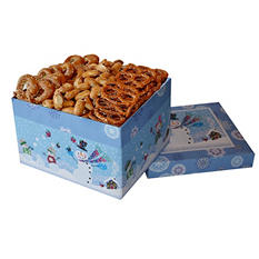 Pretzel Lover's Gift Box - Snow Kids Design (47 oz.)