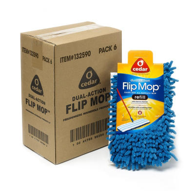 O-Cedar Professional Microfiber Dry/Damp Flip Mop Refills - 6 pk.