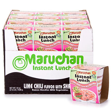 Maruchan Instant Lunch Lime Chili with Shrimp - 2.25 oz. - 24 ct.