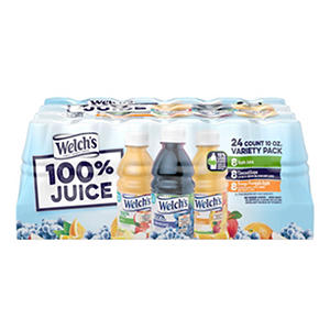 Welch's 100% Juice Variety Pack - 10 oz. bottles - 24 ct.