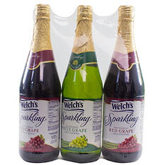 Welch's Sparkling Variety Pack (25.4 oz. bottles, 3 ct.)