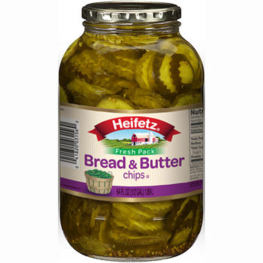 Heifitz Bread and Butter Pickle Chips - 64 oz.