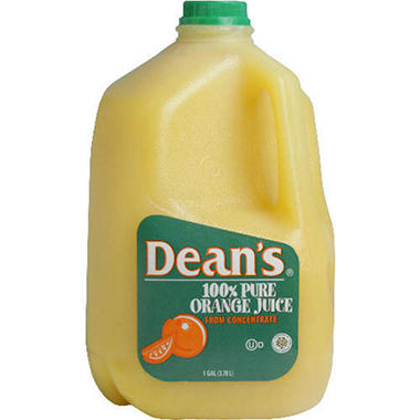 Dean's 100% Orange Juice - 1 Gal.