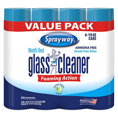 Sprayway� Glass Cleaner - 4/19oz cans
