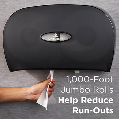 Marathon - Bath Tissue, 2-Ply, Jumbo Roll, 1,000 Ft. Rolls -6 Rolls