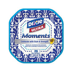 "Dixie Ultra Moments 8"" Paper Plates (26ct.) (6pk.)"