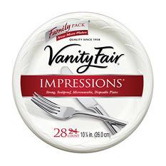 "Vanity Fair 10"" Plate (28ct., 6pk.)"