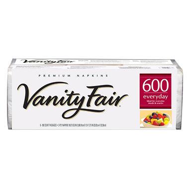 Vanity Fair - Premium Everyday Napkins, 2-Ply - 600 Napkins