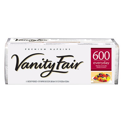 Vanity Fair - Premium Everyday Napkins, 2-Ply - 600 Napkins