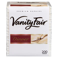 Vanity Fair Premium Dinner Napkins - 3-ply - 200 Napkins