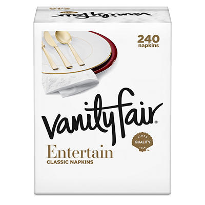 Vanity Fair Premium Impressions Napkin, 3-Ply (240 Napkins)