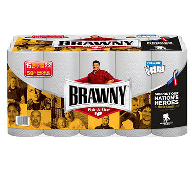 Brawny - Pick-A-Size, Paper Towel, Giant - 15 Rolls