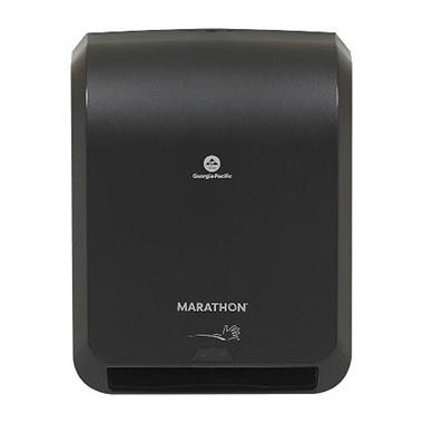 Marathon - Roll Towel Dispenser, Automated Touchless, Smoke - 350 Ft. Capacity