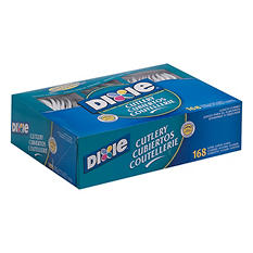 Dixie Plastic Cutlery Combo Box, Heavyweight, White (168 ct.)