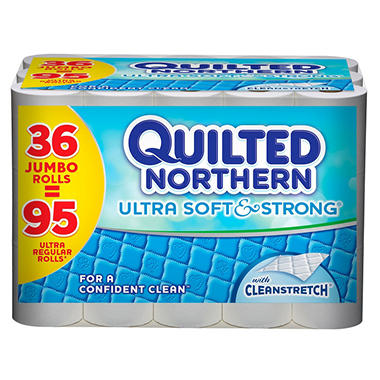 Quilted Northern Ultra Soft & Strong - Bathroom Tissue, 2-Ply, 220 Sheets - 36 Jumbo Rolls