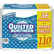 Quilted Northern Soft & Strong - Bathroom Tissue, 2-Ply, 275 Sheets - 36 Jumbo Rolls