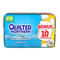 Quilted Northern Ultra Soft & Strong Bathroom Tissue Bonus Pack (36 rolls, 268 sheets)