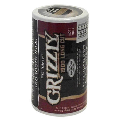 Grizzly 1900 Natural Long Cut - 5 can roll