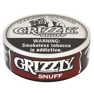 Grizzly Snuff (5 cans)