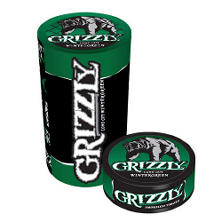 Grizzly® Wintergreen Tobacco - 5/1.2 oz. cans