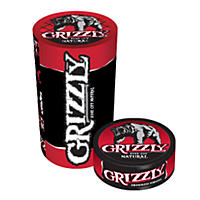 Grizzly® Natural Tobacco - 5/1.2 oz. cans