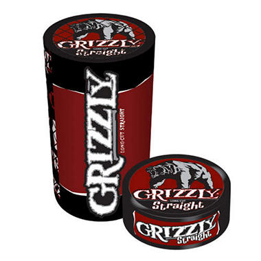 grizzly long cut straight tobacco 5 cans 12 oz each
