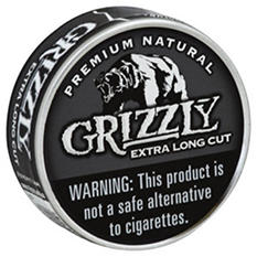 Grizzly X-tra Long Cut Natural Tobacco (5 cans, 1.2 oz. each)