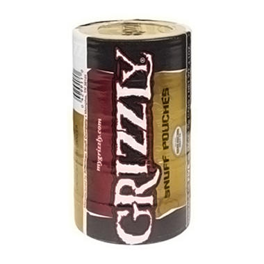 XX-Grizzly Snuff Pouch - 5 can roll
