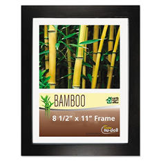 Nu-Dell - Bamboo Frame, 8 1/2 x 11 -  Black