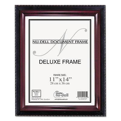 Nu-Dell - Executive Document Frame, 11 x 14 -  Black/Mahogany