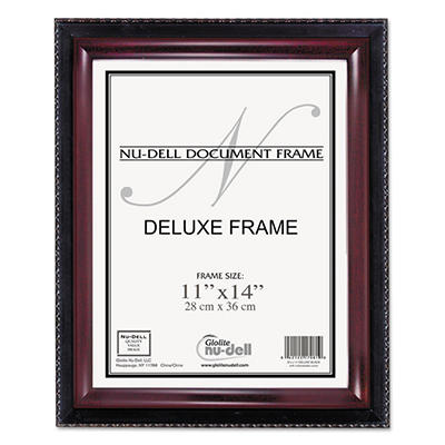 Nu-Dell - Executive Document Frame, 11 x 14 -  Black/Mahogany