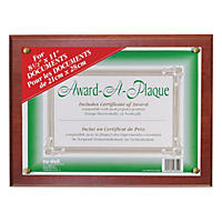 Nu-Dell ard-A-Plaque Document Holder, Acrylic/Plastic, 10-1/2 x 13, Mahogany