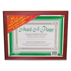 Nu-Dell - Award-A-Plaque Document Holder, 11 x 14 -  Mahogany