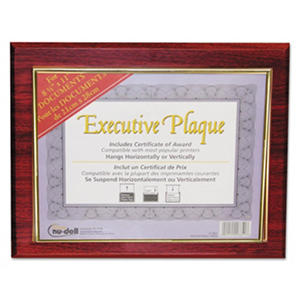 NuDell Executive Plaque, Plastic, 13 x 10 1/2, Mahogany