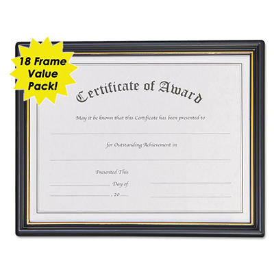 Nu-Dell - Framed Achievement/Appreciation Awards, 11w x 8 1/2h, 2 Designs -  18/Carton