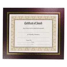 Nu-Dell - Leatherette Document Frame, 8-1/2 x 11, Burgundy -  Pack of Two