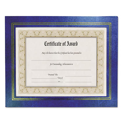 Nu-Dell - Leatherette Document Frame, 8-1/2 x 11, Blue -  Pack of Two